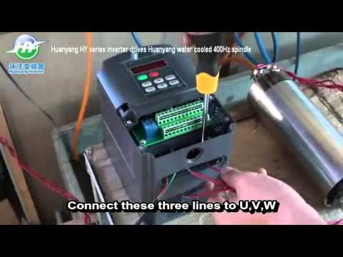 HY type 220V VFD connection Spindle motor and setting Video