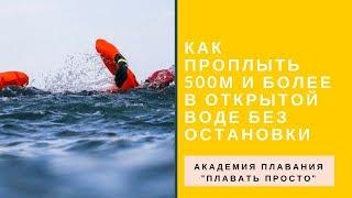 Как проплыть 500 метров и более без остановки в открытой воде