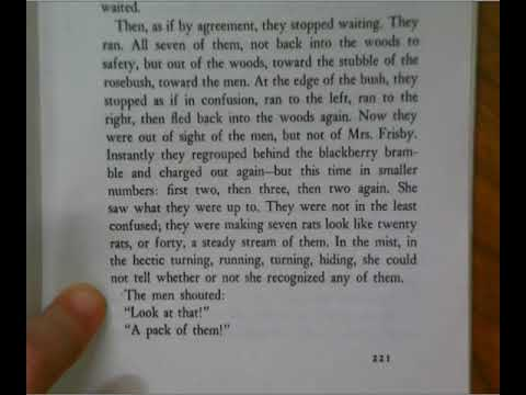 Mrs  Frisby And The Rats Of NIMH Chapter 27 The Doctor Part 1