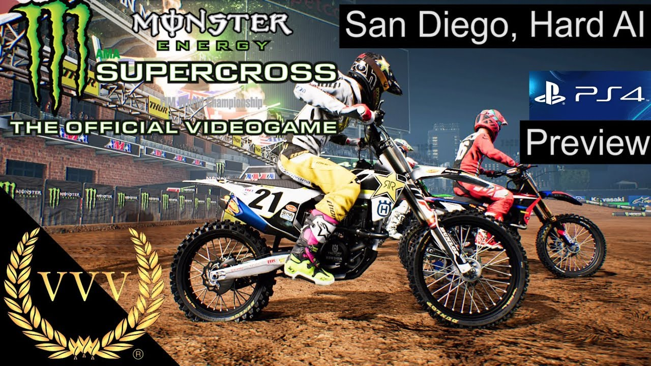 monster energy supercross ps4 preview san diego race. Black Bedroom Furniture Sets. Home Design Ideas
