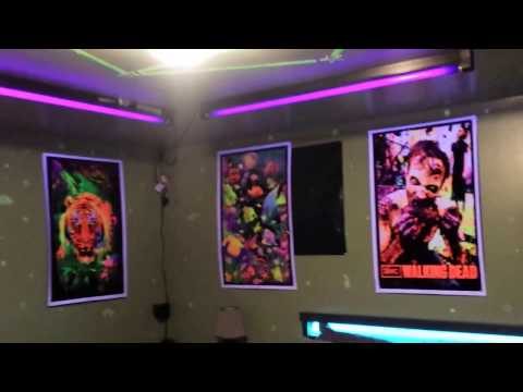 Blacklight bedroom
