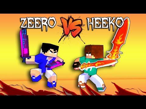 HEEKO VS ZEERO : WHEN HEROBRINE SON FIGHT : MONSTER SCHOOL
