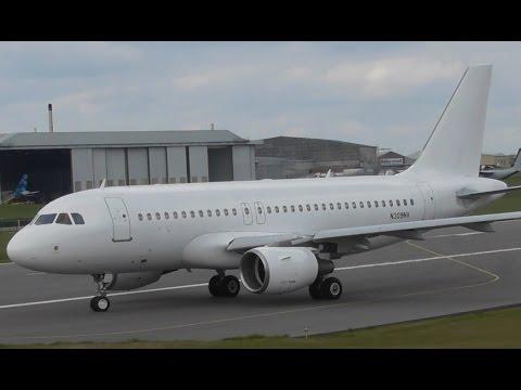 Allegiant Airbus A319 N309NV at Cambridge Airport