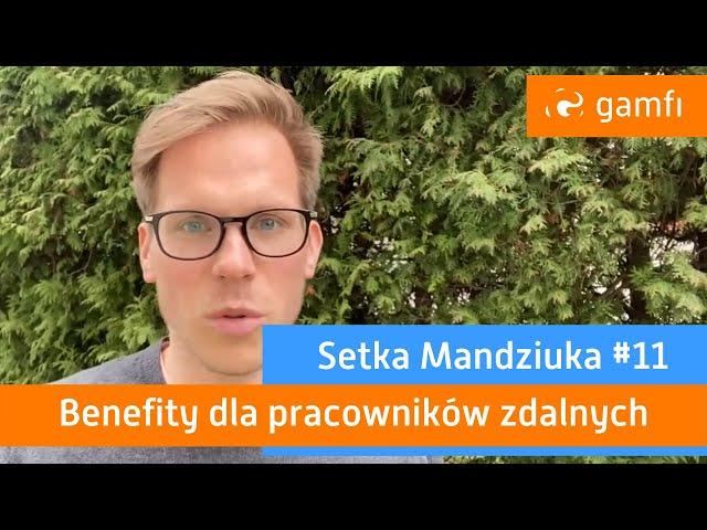 Setka Mandziuka #11 (Gamfi): Benefity dla pracowników zdalnych