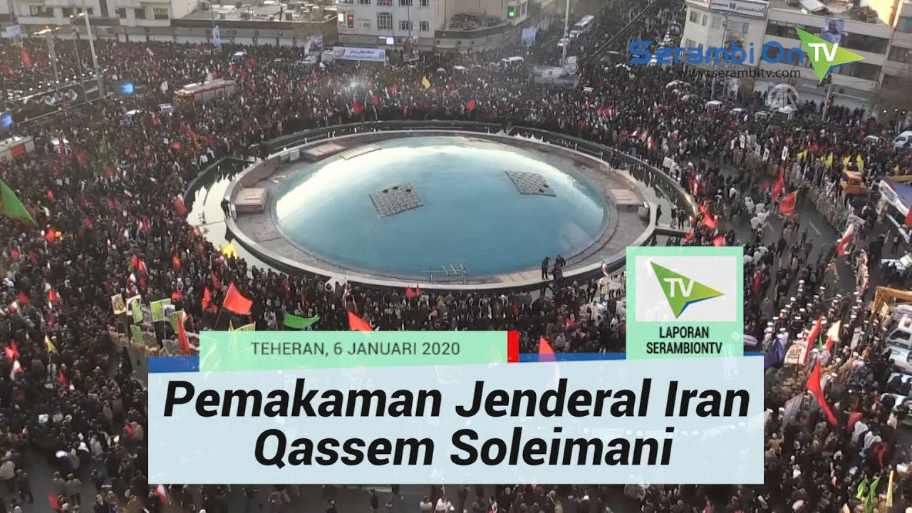 Suasana Pemakaman Jenderal Top Iran Qassem Soleimani di Teheran, Ayatollah Ali Turut Hadir