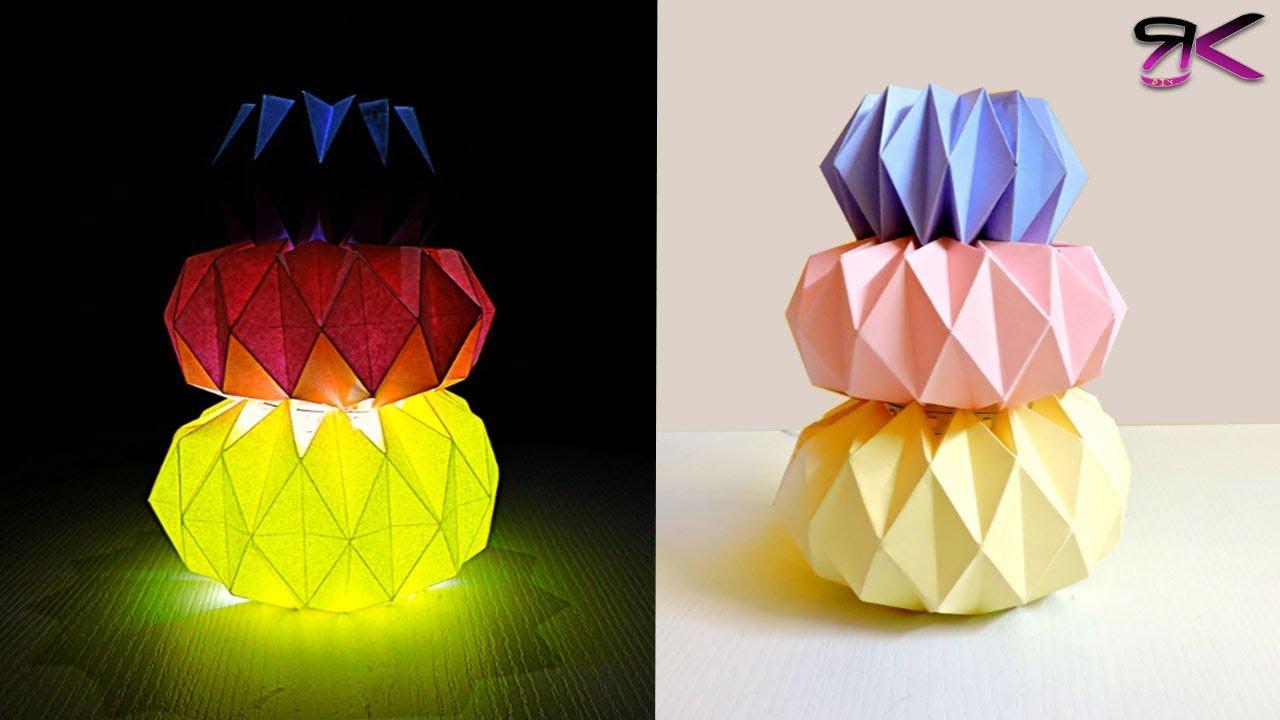 3D geometric pendant lamp - Paper lantern DIY - EzyCraft | Diy ... | 720x1280