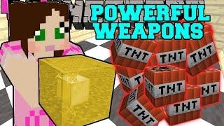 Minecraft: POWERFUL WEAPONS (ROCKET BOX, LIGHTNING BLOCK, SUPER BOW, & GROWING TNT!) Custom Command