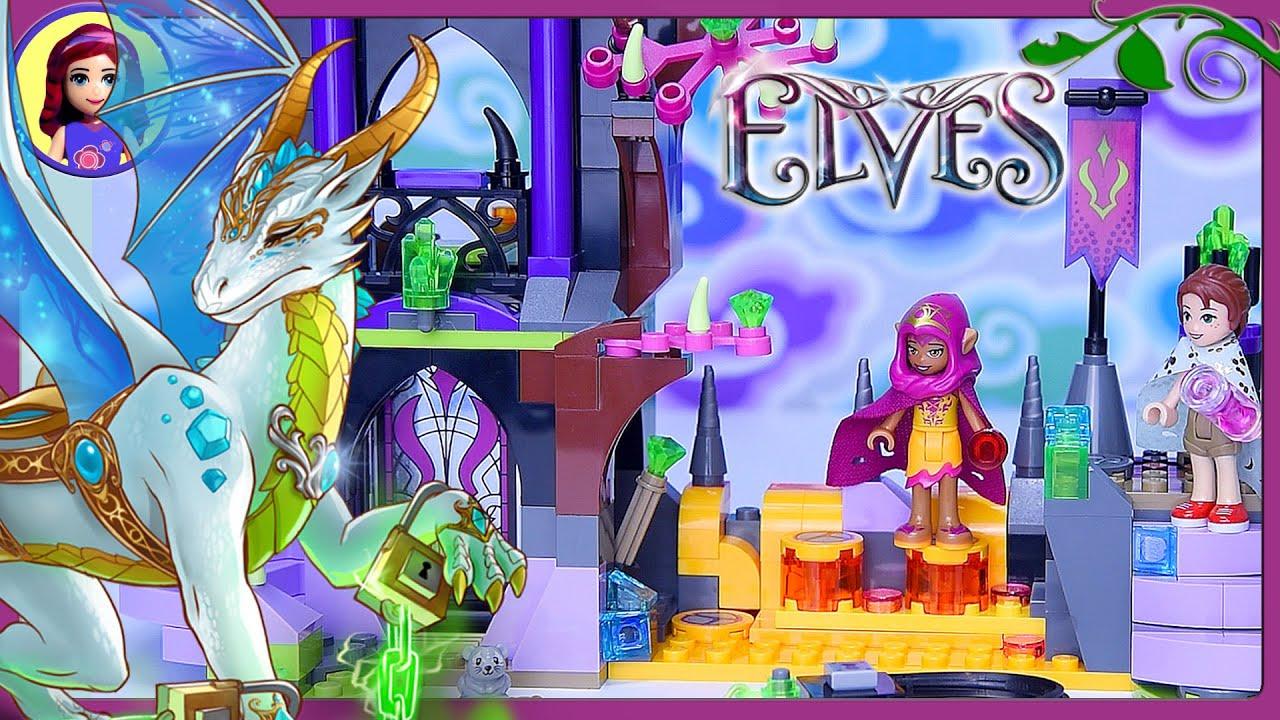 Ausmalbilder Lego Elves Drachen: LEGO Elves Queen Dragon's Rescue Build Review Silly Play