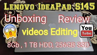 Lenovo Ideapad S145 Core i5 10th Gen-(8 GB/1 TB HDD/256 GB SSD/Windows 10) | Unboxing | Review
