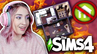Building the smallest house possible for 8 sims using ONLY custom content