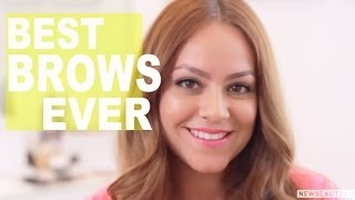 get the perfect brows for your face shape   newbeauty tutorial