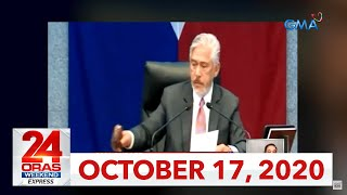24 Oras Weekend Express: October 17, 2020 [HD]