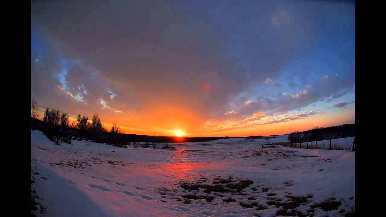 Sunrise And Sunset Time Lapse