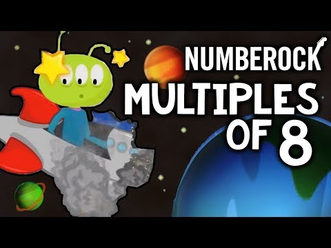 8 Times Table Song: Skip Counting  8  Multiplication Song  NUMBEROCK