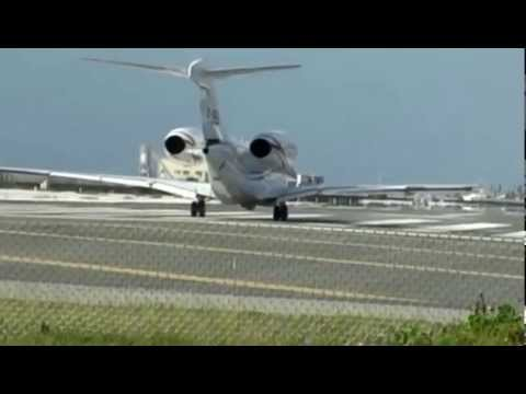 Amazing plane takes-off at Majuro Marshall Islands Intl Airport