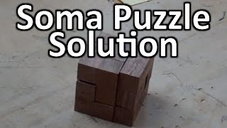 Soma Cube Wood Puzzle Solution