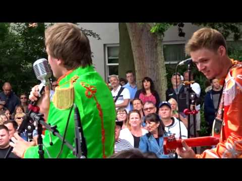 Day Trippers Band   a replica of the Beatles Band performing at the Candie Gardens – Summer 2017