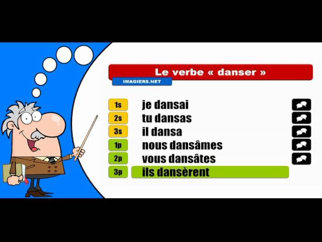 La Conjugaison Du Verbe Danser Indicatif Passe Simple Youtube