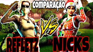 ReFleTz VS NICKS AS JOGADAS MAIS INSANAS DESSES PRO PLAYERS/ COMPILAÇÃO - FORTNITE
