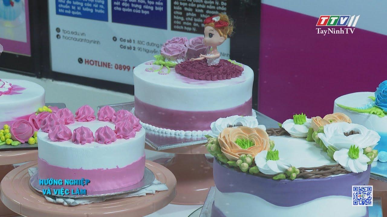Vẽ hoa trên bánh | HƯỚNG NGHIỆP VIỆC LÀM | TayNinhTV