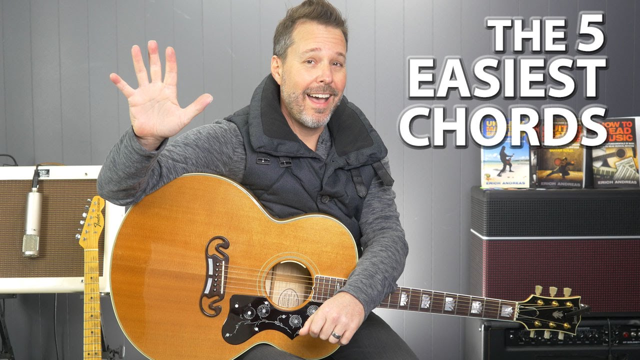 Top 5 Easiest And Most Used Guitar Chords Youtube