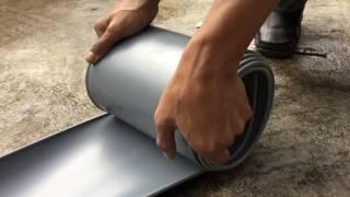 Bending Test PiPAMAS Rain Gutter (Talang Bulat)