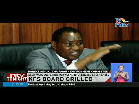 Kenya Forest Service board grilled by EACC over the suspension of 8 staff