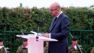 Cérémonie protocolaire d'inauguration du mémorial de la bataille de Waterloo l