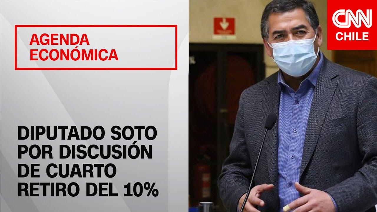 """Agenda Económica    Leonardo Soto afirma que """"está disponible"""" para apoyar el cuarto retiro"""