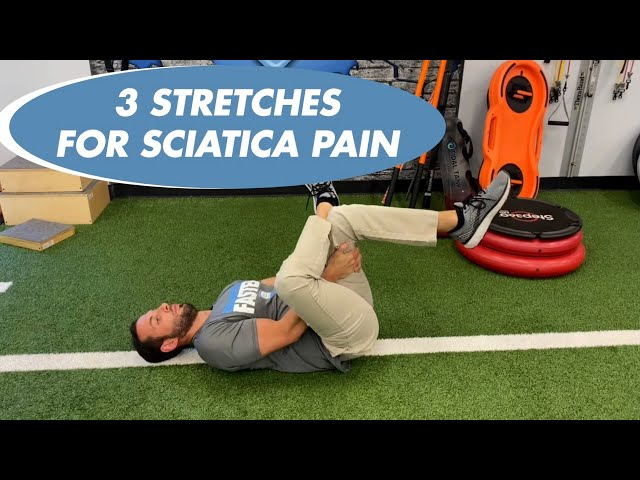 3 STRETCHES TO HELP RELIEVE SCIATICA PAIN - DR ANTHONY LANZANO - NJ SPINE AND WELLNESS