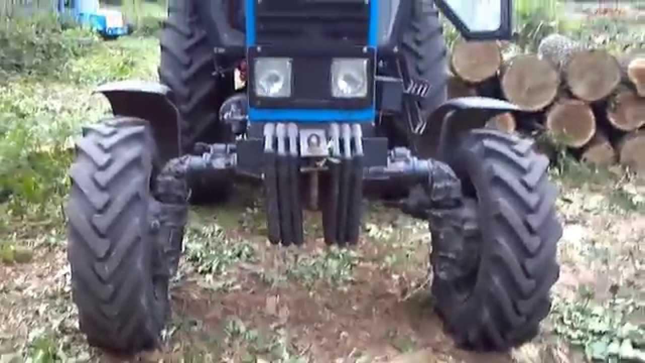 МТЗ ремонт заднего колеса - YouTube