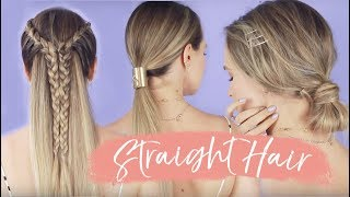 Easy Straight & Heatless Hairstyles - KayleyMelissa