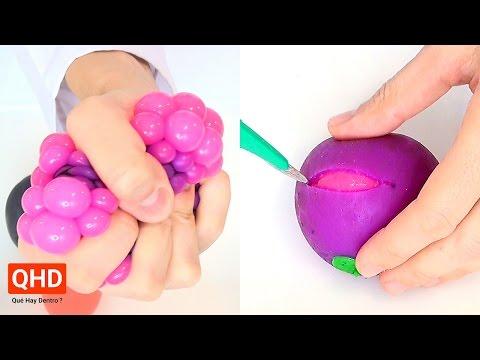 Cortando y abriendo pelotas antiestr�s o squishy - Qu� Hay Dentro