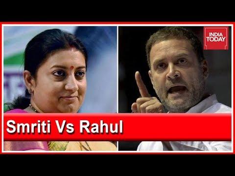 "Smriti Irani Calls Rahul Gandhi Amethi's ""Missing MP"", Congress Hits Back"