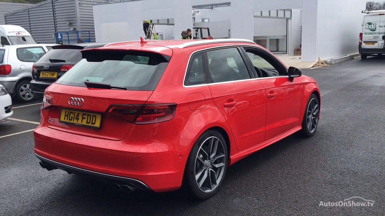 hg14fdd audi a3 s3 sportback quattro red 2014 bradford. Black Bedroom Furniture Sets. Home Design Ideas