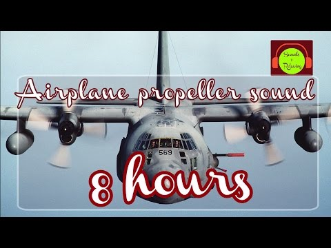 🎧 Airplane propellers sound  for relaxing and sleeping - 8 hours - white noise
