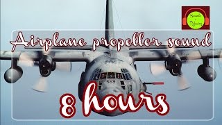 🎧 Airplane propeller sound for relaxing and sleeping - 8 hours - white noise