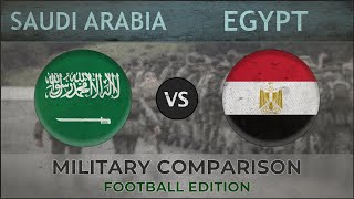 SAUDI ARABIA vs EGYPT - Army Comparison - 2018 [FOOTBALL EDITION]