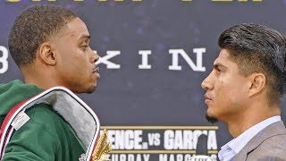 Errol Spence Jr vs. Mikey Garcia FACE OFF @ Final Press Conference