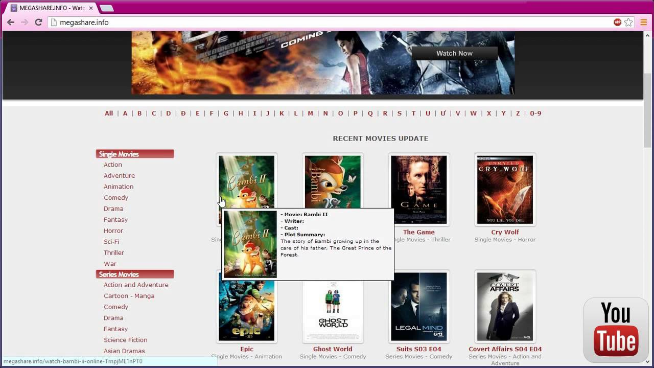 The Best Free Movie Website. NO DOWNLOAD,NO SIGN UP - YouTube