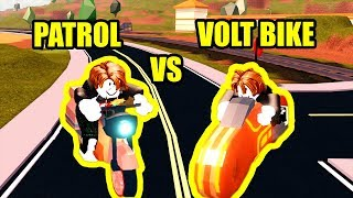 NUOVA AUTO FASTEST??? PATROL vs VOLT BIKE Speed Test Roblox Jailbreak