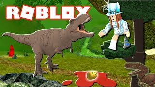 T-REX BOSS BATTLE!?! Camping With Dinos! (Roblox Time Travel Adventures!) 🦖