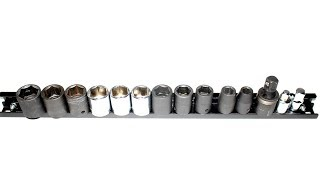 How To Make Your Own Magnetic Socket Holder DIY Using 18 in. Magnetic Tool Holders  Organize Sockets