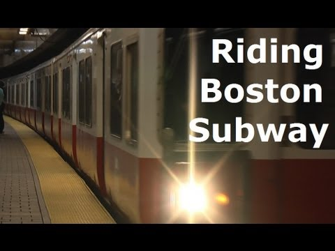 Riding Boston Subway - MBTA redline - Harvard Square/Kendall Square/Charles MGH