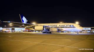 A380 Singapore Airlines Arrival at IGI - Full HD