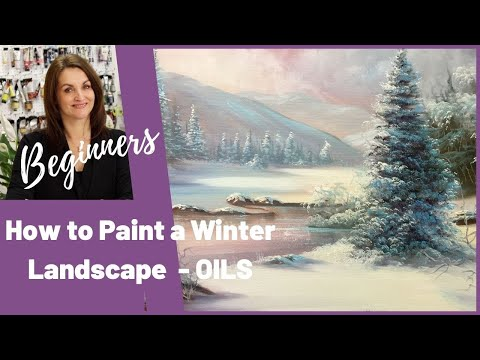 Paint With Maz - Snow's First Fall - Full step by step tutorial