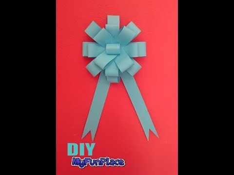 How To Make A Paper Bow - Easy Tutorial DIY