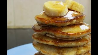 How To Make Fluffy Banana ButterMilk Pancakes | Miss Mandi Throwdown