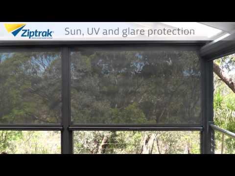 All Weather Blinds - ZipTrak's Excellent Sunscreen Mesh Blinds