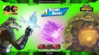 FORTNITE [4K@60fps] THE CUBE-BUTTERFLY EVENT victory royale  Triple monitor gameplay 5760x1080